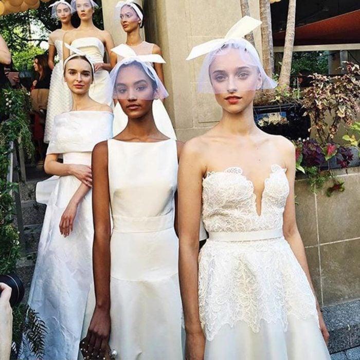 Diseños de vestidos de novia de Lela Rose.