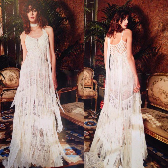 Diseño de vestido de novia de Yolan Cris.