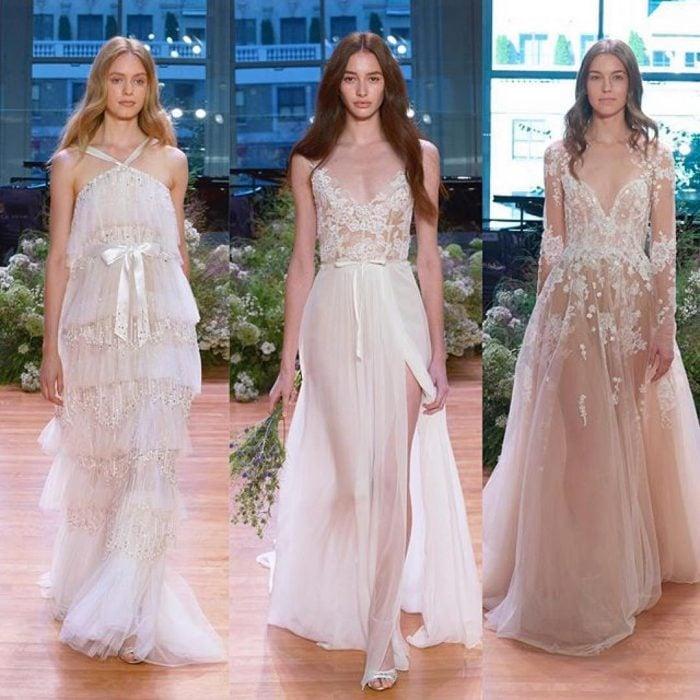 Diseño de vestido de novia de Monique Lhuillier.