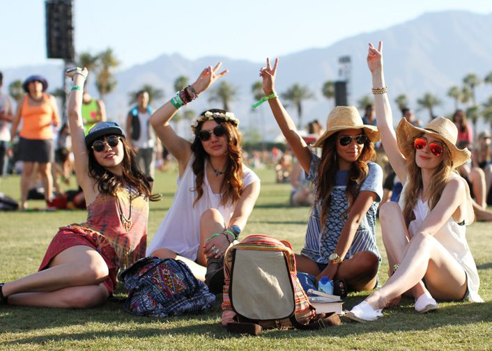 chicas en festival