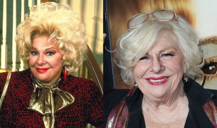 mujer rubia con cabello grande antes y después