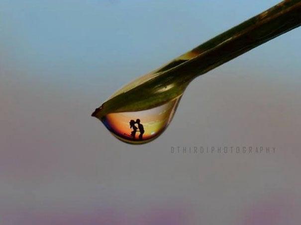 imagen de una pareja en una gota