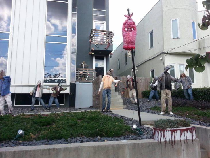 decoración de casa con zombies