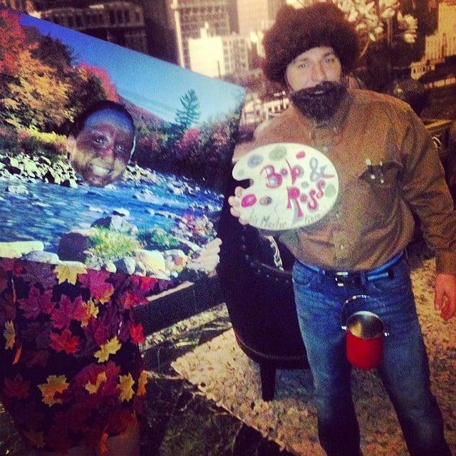 Bob ross y un arbol feliz