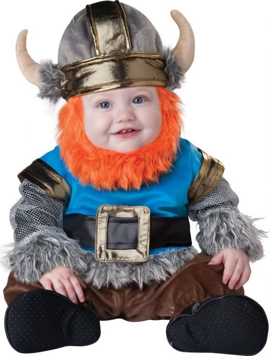 baby dressed as Viking