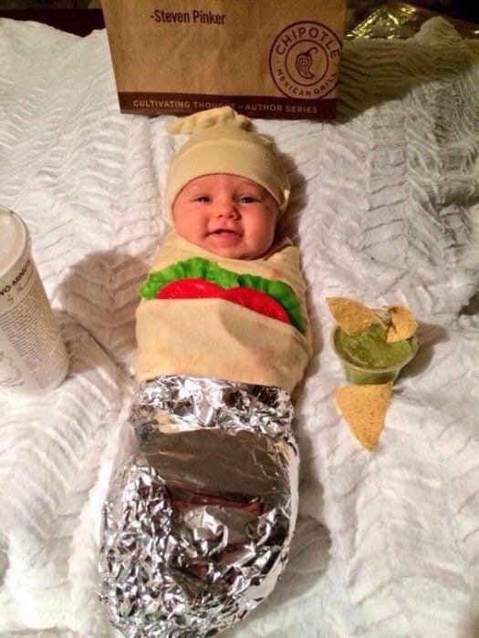disguised baby burrito