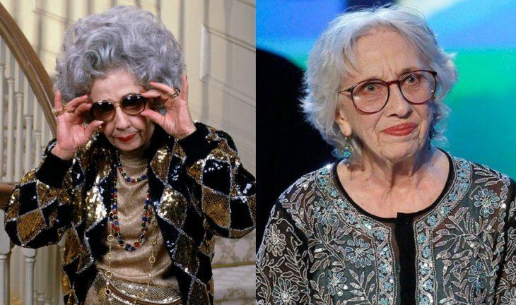 mujer anciana con lentes antes y después