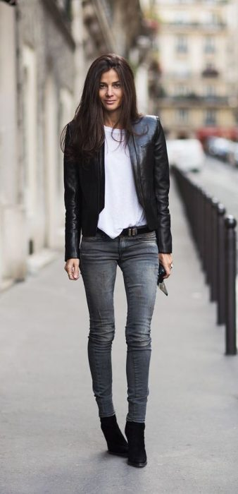 Womens Black Denim Jacket