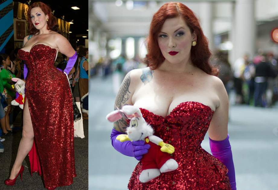 Plus Size Jessica Rabbit Halloween Costume The Halloween