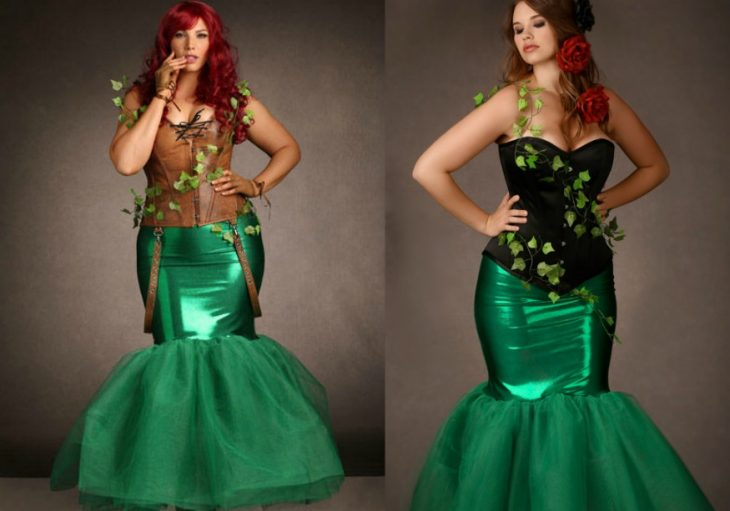 woman in costume of poison ivy