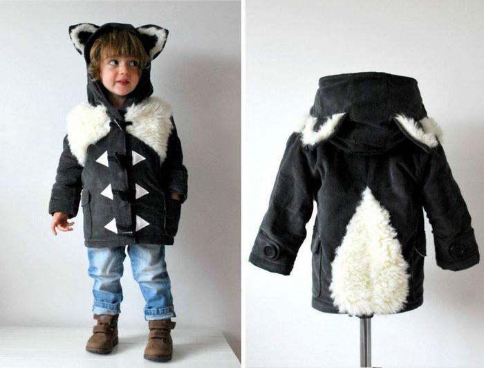 Abrigo en forma de zorrillo