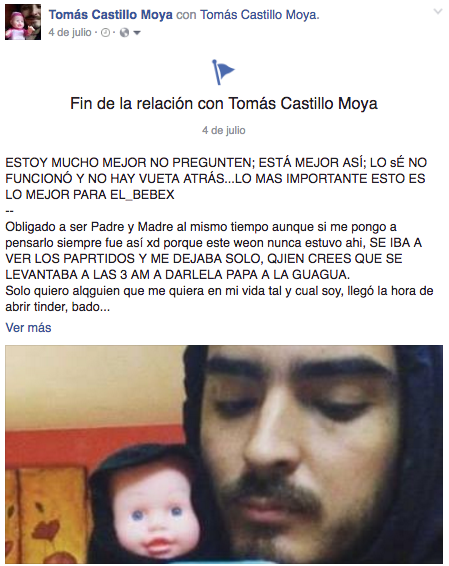 Tomás Castillo Moya finaliza su relación