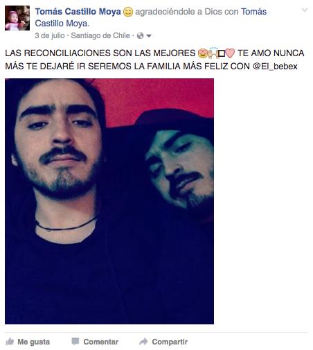 Tomás Castillo Moya la reconciliación