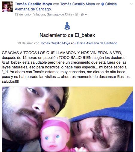 Nacimiento de El bebex de Tomás Castillo Moya
