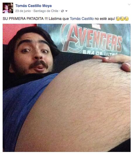 Embarazo de Tomás Castillo Moya