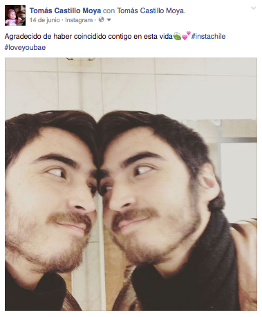 Tomás Castillo Moya enamorado de sí mismo