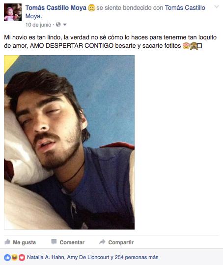 Captura de pantalla de Tomás Castillo Moya