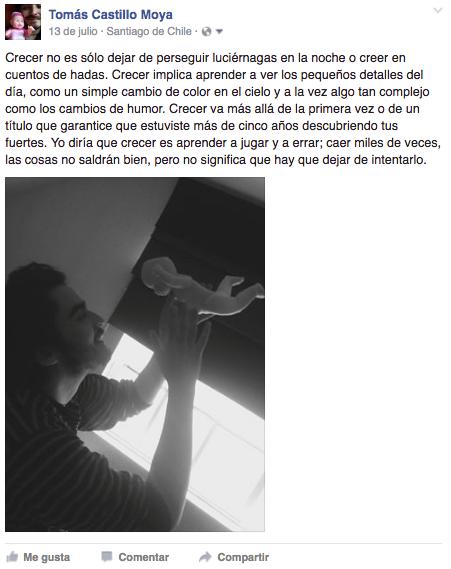 Mensaje de inspiración de Tomás Castillo Moya