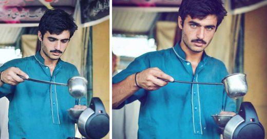 Este guapo pakistaní pasó de vender té en la calle a las páginas de moda