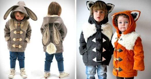 Estos adorables abrigos convierten a los pequeños en animalitos y el mundo está muriendo de ternura