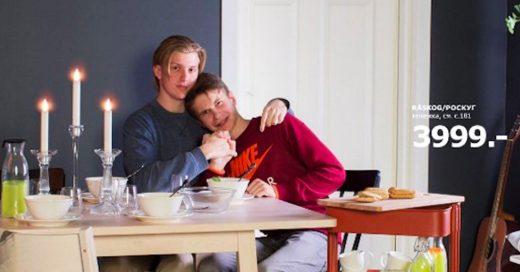 Ikea eliminó imagen de pareja gay en concurso para nuevo catálogo en Rusia