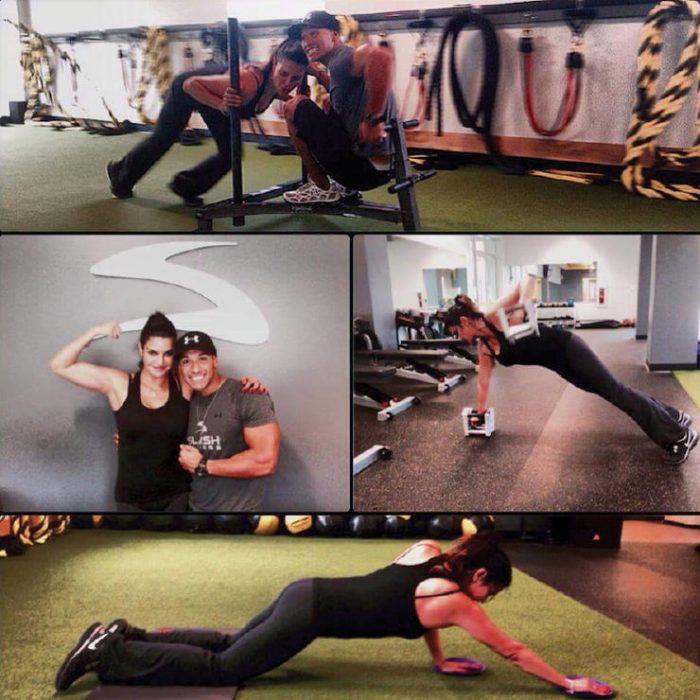 mujer haciendo rutinas de ejercicio