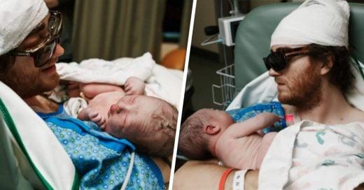 Pese a los pronósticos, padre con cáncer terminal se aferra a la vida y asiste al parto de su hija