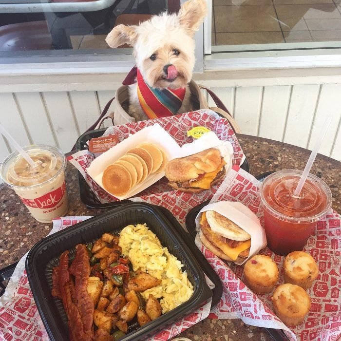 Popeye desayunando
