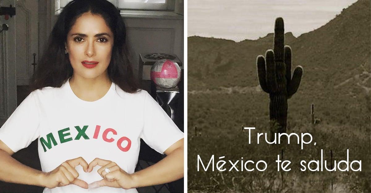 La actriz mexicana Salma Hayek envió un mensaje obsceno al candidato Donald Trump