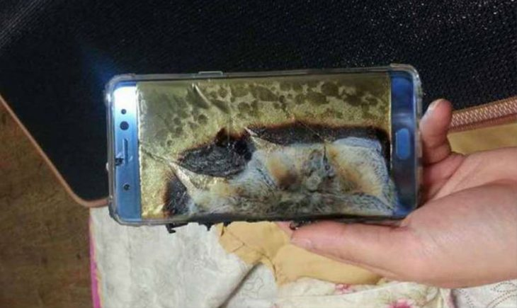 Galaxy Note 7 burned
