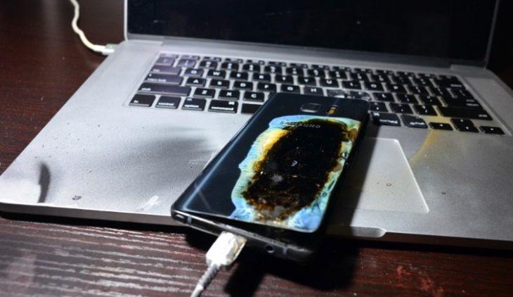 Galaxy Note 7 quemado