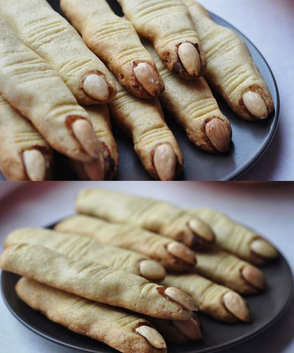Finger-shaped cookies zombie