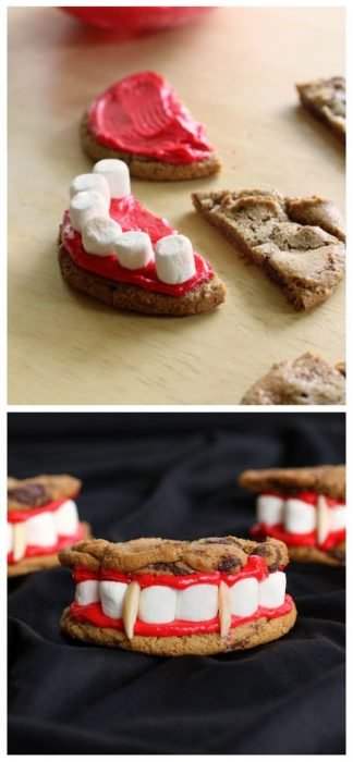 Denture made with biscuits