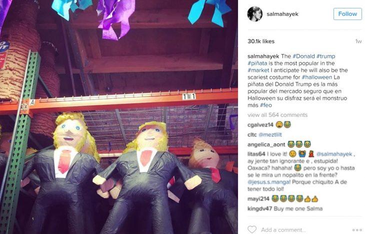 piñatas colgadas captura de pantalla instagram
