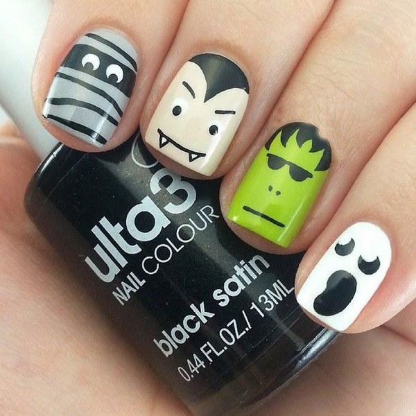 Diseños de halloween para tus uñas.