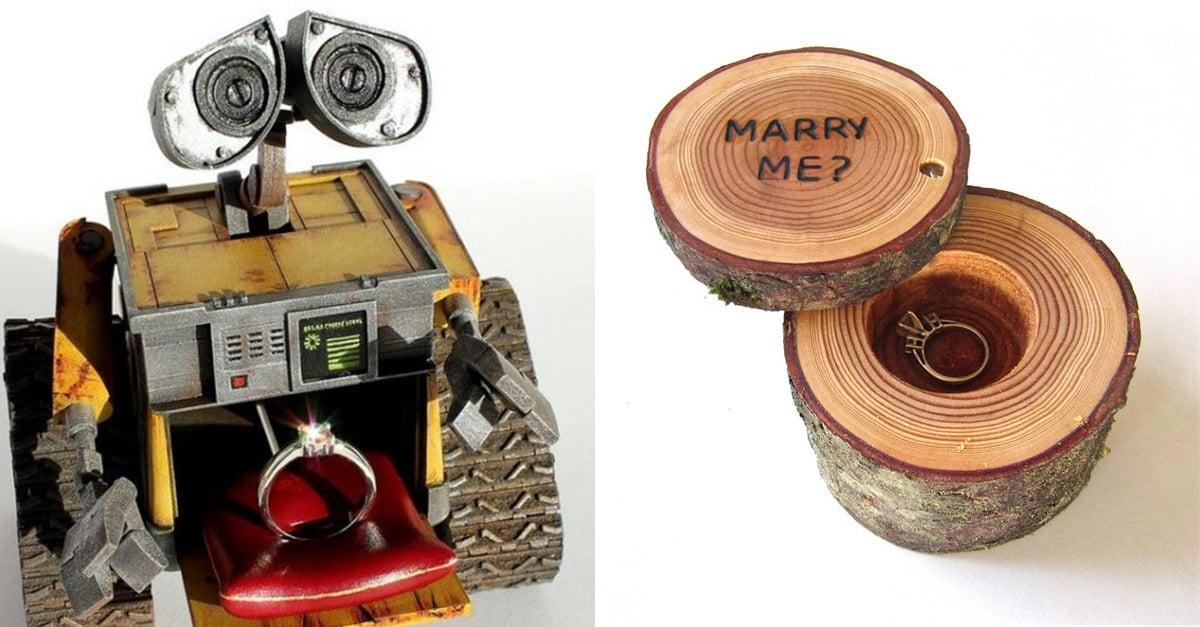 15 cajas de anillo de compromiso con los que ninguna chica podría decir que no