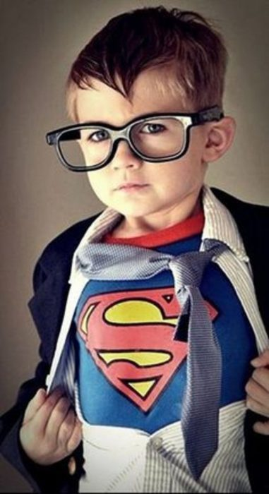 Disfraz de superman.