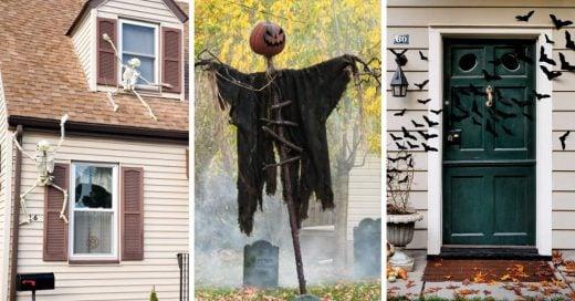 """20 decoraciones de Halloween para exterior de tu casa que te harán gritar """"dulce o truco"""""""