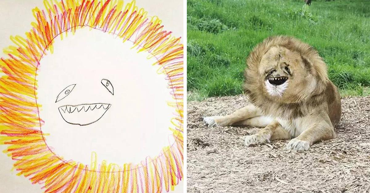 Este pequeño hace divertidos dibujos y su padre los convierte en una espeluznante y graciosa realidad