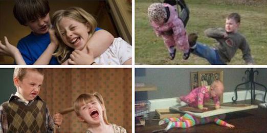 Fotos de peleas entre hermanos.