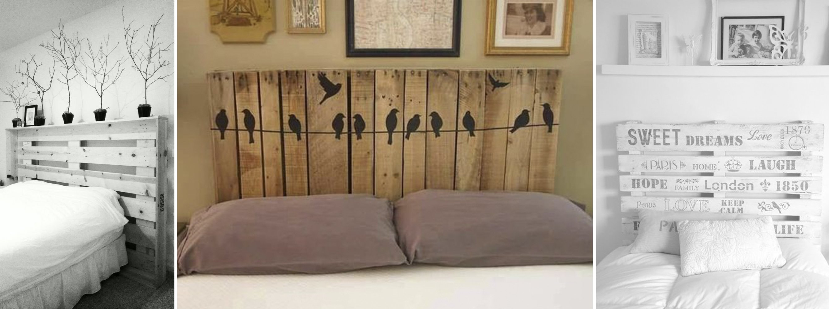 10 ideas para decorar tu cuarto que te har n amar los palets for Cabeceras de cama con tarimas