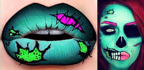 Labios de zombie.