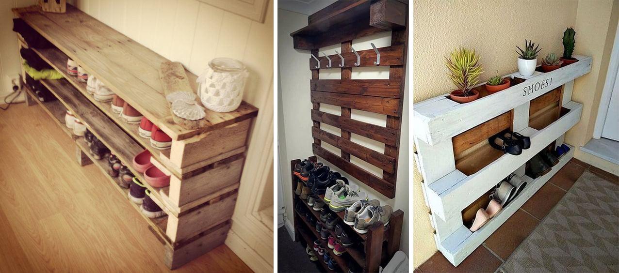 10 ideas para decorar tu cuarto que te har n amar los palets for Muebles para colocar zapatos