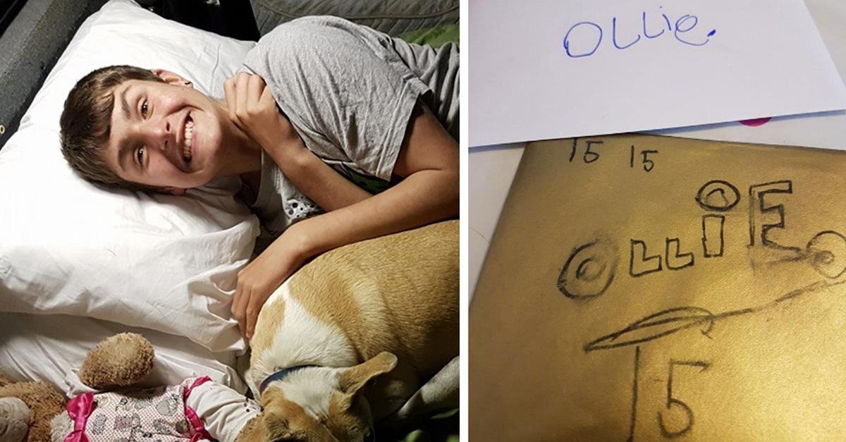 Él escribió sus propias felicitaciones porque no tenía amigos, su mamá pidió ayuda e Internet respondió así