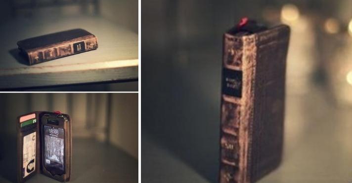 Funda para tu celular como si fuera un libro viejo.