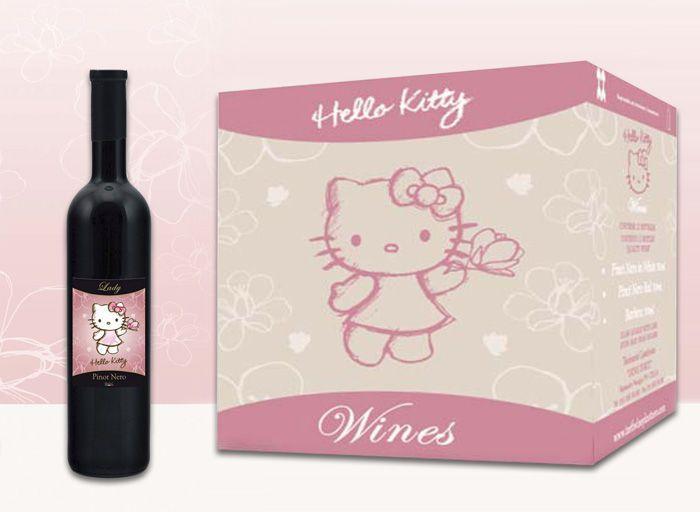 Vino Hely Kitty y el paquete en el que se entrega.