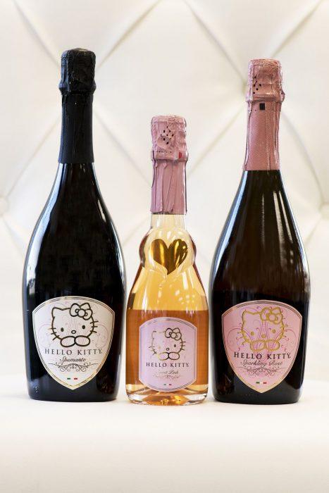 Colección de vinos de Hello Kitty.