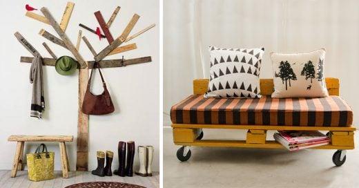 15 originales ideas para decorar tu recamara que te harán amar los palets.