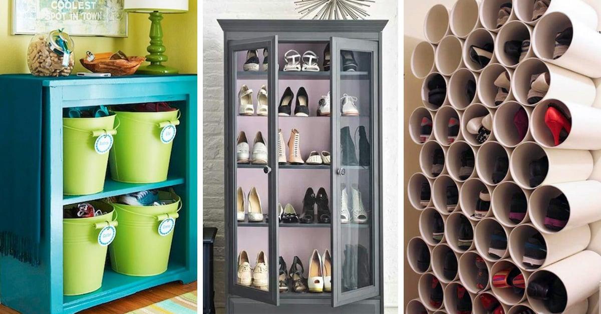creativas formas de tener tus zapatos bien organizados