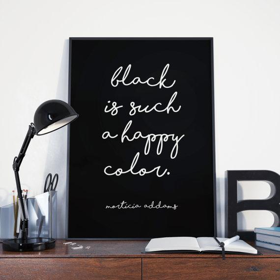 Cuadro decorativo color negro.